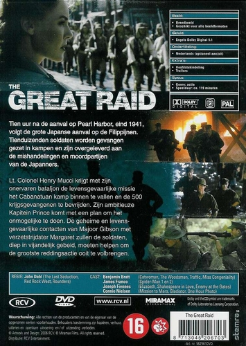 DVD oorlogsfilms - The Great Raid
