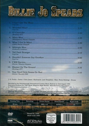 Muziek DVD - Billie Jo Spears