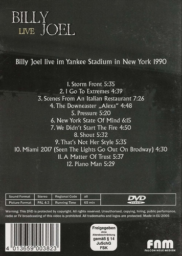 Muziek DVD - Billy Joel Live at Yankee Stadium