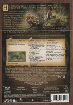 Avontuur DVD - Lord of the Rings - Two Towers (2 DVD SE)
