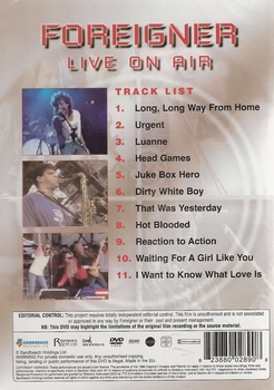 Muziek DVD - Foreigner - Live on Air